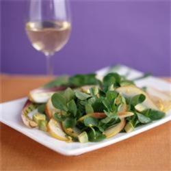 Mâche, California Pear & Avocado Salad with Sesame Rice Wine Vinegar Dressing